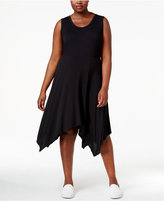 Jessica Simpson Trendy Plus Size Handkerchief-Hem Dress