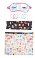 Capelli of New York Girl's 4-Piece Mixed Emoji Sleepover Set - Pink