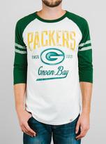 Junk Food Clothing Nfl Green Bay Packers Raglan-sugar/hunter-xxl