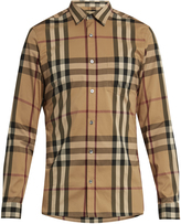 Burberry House-check cotton-blend shirt