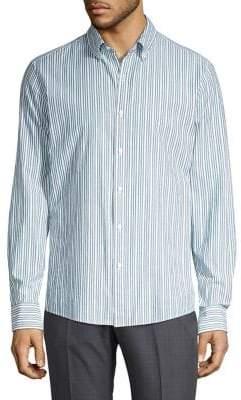Michael Kors Benton Striped Slim-Fit Button-Down Shirt