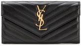 Saint Laurent Monogram embossed leather wallet