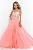 Blush Lingerie One Shoulder Beaded Long Dress 9965