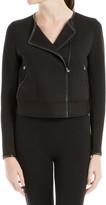 Max Studio Heavy Doubleknit Zip Front Jacket