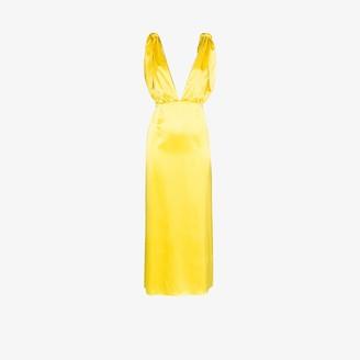 BERNADETTE John silk V-neck gown