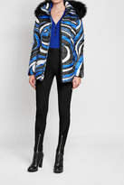 Emilio Pucci Quilted Down Jacket with Shearling-Trimmed Hood