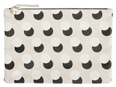 Clare Vivier Supreme Flat Clutch With Black And Cream Pop Dots