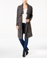 Calvin Klein Jeans Open-Front Boucle Cardigan