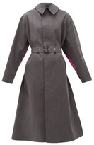 Maison Margiela Printed-back Bonded-cotton Trench Coat - Womens - Grey Multi