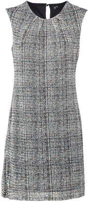 Dorothy Perkins Womens *Izabel London Grey Tweed Print Shift Dress, Grey