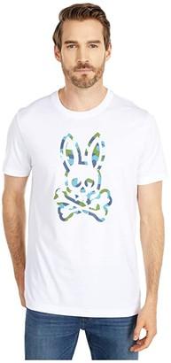 Psycho Bunny Patcham T-Shirt (White) Men's Clothing