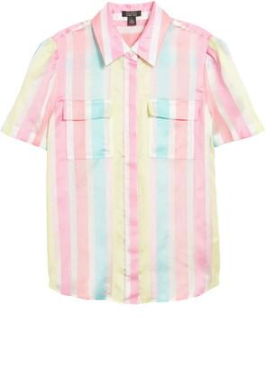 Halogen x Atlantic-Pacific Stripe Utility Shirt