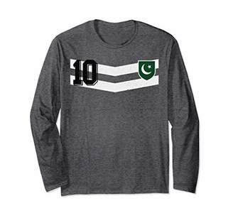 Pakistan or Pakistani Design for Soccer or Football Fans Long Sleeve T-Shirt