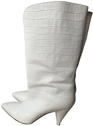 ATTICO White Leather Boots