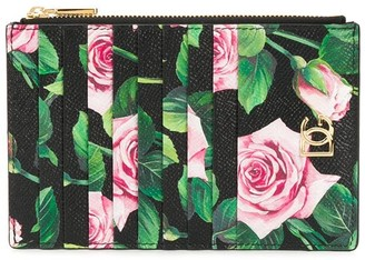 Dolce & Gabbana Rose Print Cardholder