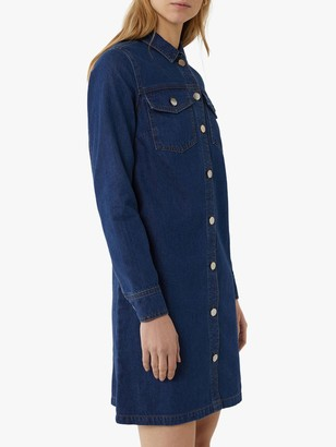 Warehouse Denim Shirt Dress, Blue