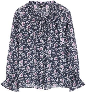 Paige Roma floral-print silk-chiffon blouse
