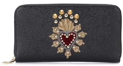 Dolce & Gabbana Embellished leather wallet
