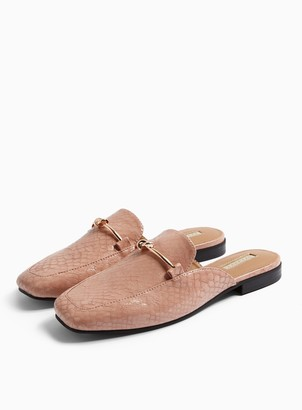 Topshop ADA Pink Mule Loafers