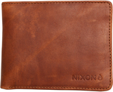 Nixon Stealth Slim Bi Fold Leather Wallet Brown