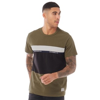 Levi's Mighty Pieced Short Sleeve T-Shirt Olive Night/Black/White