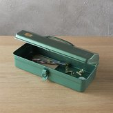 CB2 Trusco Teal Tool Box