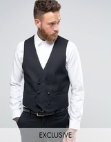 Farah Skinny Tuxedo Double Breasted Vest