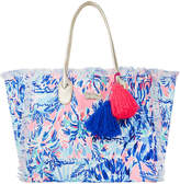 Lilly Pulitzer Gypset Frayed Beach Tote Bag