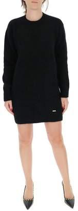 DSQUARED2 Ribbed Crewneck Sweater Dress