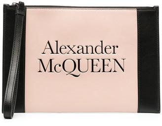 Alexander McQueen Embossed Logo Clutch Bag