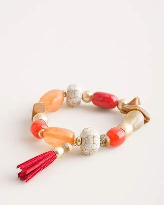 Chico's Chicos Coral Stretch Bracelet