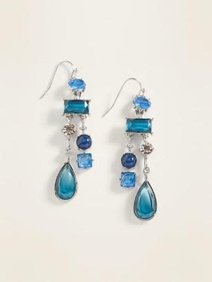 Old Navy Blue Multi-Bead Drop Earrings for Women