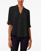Amy Byer Juniors' Tab-Sleeve Shirt