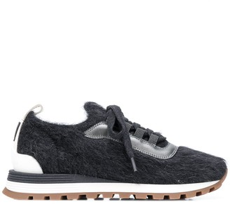 Brunello Cucinelli Textured Low-Top Trainers