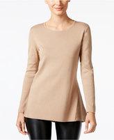 Alfani Petite Ribbed Peplum Sweater, Only at Macy's