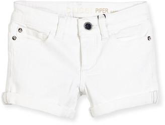 DL1961 Girls' Piper Cuffed Denim Shorts, Griffon, Size 7-16