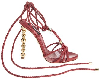 DSQUARED2 Red Woman Feng Heeled Sandals