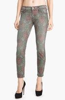 Current/Elliott 'The Stiletto' Skinny Jeans (Hindu Print)