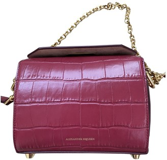 Alexander McQueen Box 16 Red Leather Handbags