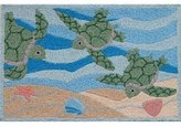 Tropical Green Sea Turtle Jellybean 21 x 33 Inch Accent Rug