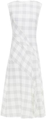 Cédric Charlier Checked Wool-blend Midi Dress