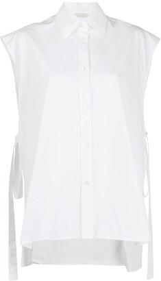 Nina Ricci Side Tie Sleeveless Shirt
