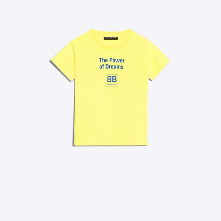 Balenciaga Tshirt with 'Power of Dreams' printed at front
