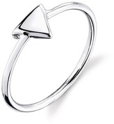 Women's Sterling Silver Polish Triangle Ring - Silver