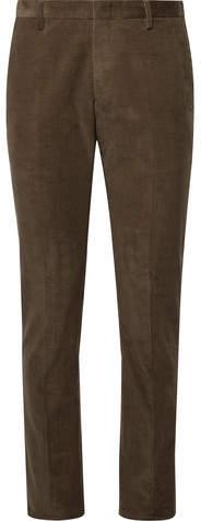 Paul Smith Olive Slim-Fit Cotton-Corduroy Suit Trousers