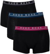 Boss 3 Pack Black Block Colour Boxer Trunks