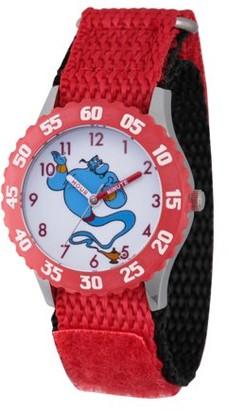 Disney Aladdin Genie Girls' Stainless Steel Time Teacher Watch, 1-Pack