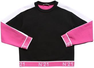 N°21 Cotton Sweatshirt W/ Logo Band