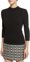 Milly Mod Mock-Neck Pullover Top