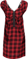 M Missoni Checked wool and cotton-blend dress